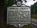 Morgan County Historical Marker Cacapon Road Woodrow WV 2014 09 16 01.jpg