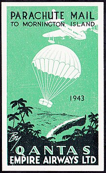 Mornington Island-History-Mornington Island Parachute Mail