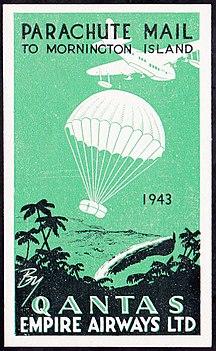 Mornington Island-History-Mornington Island Parachute Mail