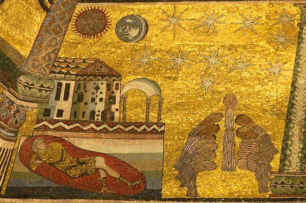 Coppo di Marcova, Mosaici del battistero, primo e secondo sogno di Giuseppe