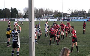 Birmingham Moseley Rugby Club - Moseley against Coventry in 2009 Boxing Day derby at Billesley