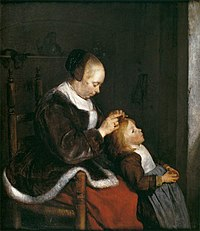 Mother Combing the Hair of Her Child 1652-3 Gerard ter Borch.jpg