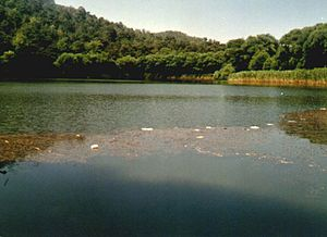 "Tantalus - Karagöl (""The black lake"") in Mount Yamanlar, İzmir, Turkey, associated with the accounts surrounding Tantalus and named after him as Lake Tantalus"