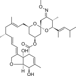 Structural formula of moxidectin