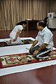 Mrs Manekar and Anil Shrikrishna Manekar - Vajrasana - International Day of Yoga Celebration - NCSM - Kolkata 2015-06-21 7342.JPG