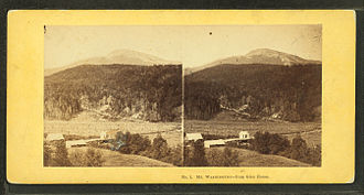 Glen House - Mount Washington from Glen House in a stereographic image by John P. Soule