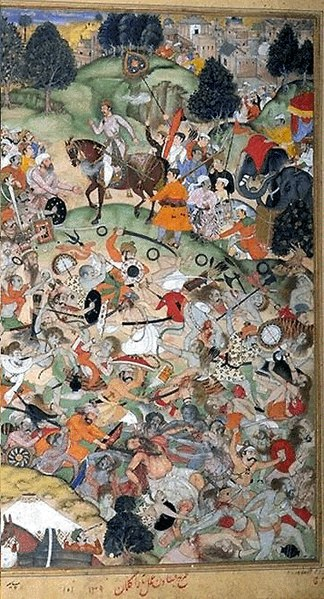 File:Mughals Slay the Sannyasis at Thanesar 01.jpg