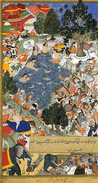 File:Mughals Slay the Sannyasis at Thanesar 02.jpg