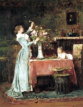 Munkácsy Woman Arranging Flowers 1881-1882.jpg