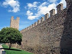 Vista de la muralla de Montblanc