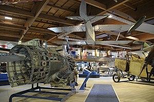 Museo dell'Aeronautica Gianni Caproni M.C.200 and G.51bis.JPG
