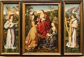Mystic Marriage of Saint Catherine with Saints and Angels, by the Master of Frankfurt, c. 1500-1510, oil on panel - San Diego Museum of Art - DSC06610.JPG