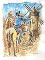 N°1132-Don quichotte et sancho Panza Par Michel RIGEL.jpg