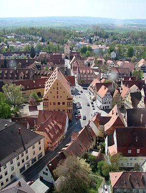 Nördlingen - Nördlingen, south view from the church tower Daniel