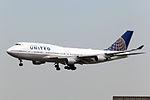N104UA - United Airlines - Boeing 747-422 - PEK (13991032317).jpg