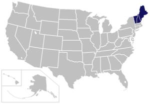 North Atlantic Conference - Image: NAC USA states