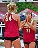 NCAA sand volleyball match at FSU, April 2014 (13944172485).jpg