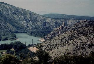 Neretva River in Bosnia and Herzegovina and Croatia