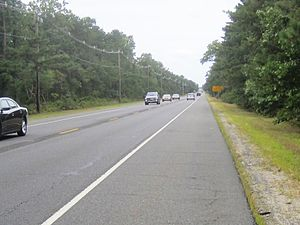 New Jersey Route 70 - Rural portion of Route 70 and CR 530 westbound in Manchester Township