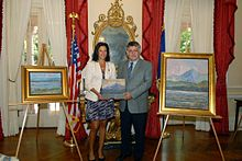 NY State First Lady Michelle Paige Patterson with Samir Sammoun.jpg