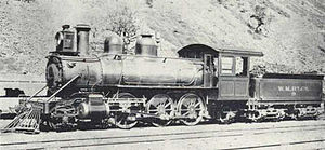 2-6-2 - NZR N class prior to its NZR service, as No. 9 of the Wellington and Manawatu Railway, at Paekakariki