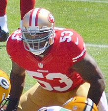 Description de l'image NaVorro Bowman in 2013 vs Packers.jpg.