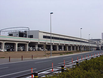 Central Japan International Airport Station - Exterior of the station in March 2008