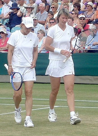 Martina Navratilova - Navratilova and Sukova playing doubles