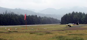 Oregon Department of Aviation - The Nehalem Bay State Airport on a still morning.