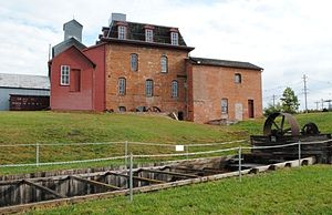 Neligh Mill - Neligh Mill, with flume in foreground