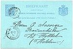 Netherlands 1897-03-11 5c postal card Boskoop-Kleinflottbek G36.jpg