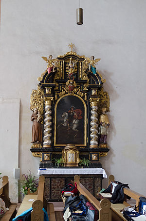Neustadt am Main Abbey - Baroque Georgsaltar  from 1711 in the southern transept