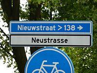 Neustraße Straßenschild.JPG