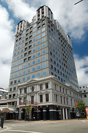 Clarendon Tower - Clarendon Tower with the retained façade of Clarendon Hotel