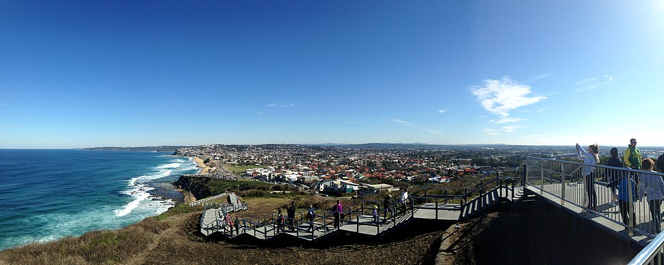 The ANZAC Walk, looking towards Merewether and the outer suburbs