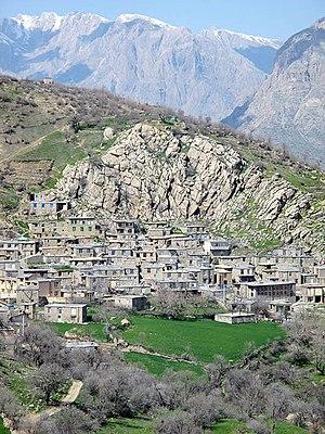 Hawraman - A typical Kurdish village in Hawraman, Kurdistan Province 2015