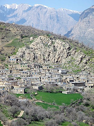 Hawraman - A typical Kurdish village in Hawraman, Kurdistan Province 2015