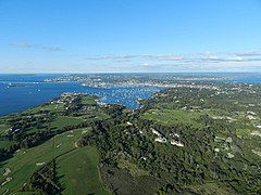 Newport, Rhode Island Aerial View