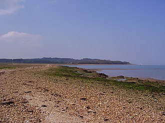 Newtown Bay - Newtown Bay; looking west across the mouth of Newtown Harbour