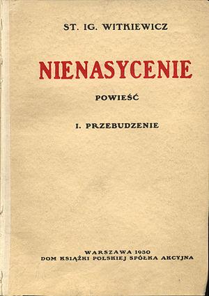 """Insatiability - First edition front cover of Nienasycenie Part one: """"Przebudzenie"""""""