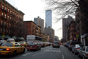 Hell's Kitchen, Manhattan - Looking south on Ninth Avenue from 49th Street