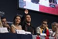 Nodi Tatishvili and Sophie Gelovani, ESC2013 press conference 04.jpg