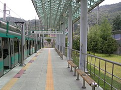 Nokdong station platform on Gwangju subway 20090704.jpg
