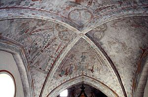 Anderslöv Church - Frescos on the chancel vault