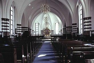 Philip's Church, Copenhagen - The church interior in 2007