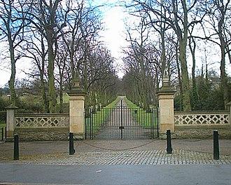 Norfolk Heritage Park - Norfolk Park entrance on Norfolk Park Road.