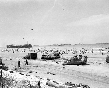 Omaha on the afternoon of D-Day Normandy Invasion June 1944.jpg