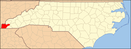 North Carolina Map Highlighting Cherokee County.PNG