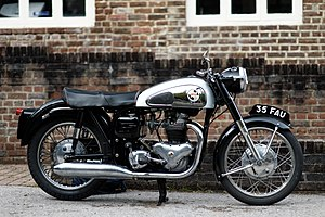 Motorcycle - A classic Norton motorcycle