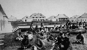 Norway House - Inside the fort at Norway House, NWT 1878